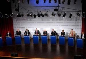 debate candidatos en unc plano amplio
