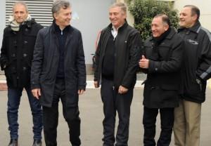 Fugaz incursión mediática de Macri para apuntalar a Aguad