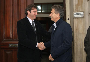 En campaña, Macri estrenó candidato en Luján. Este jueves estará en Córdoba con Aguad