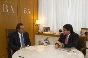 Tras confirmarse la fórmula K, Scioli y Zannini se reunieron para coordinar agenda de campaña