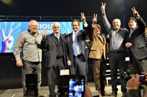 En mitin político con Accastello, debutó la fórmula presidencial Scioli-Zanini