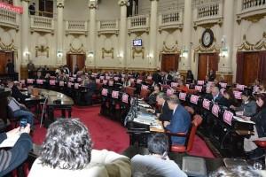 sesion unicameral Ni una menos Comisión