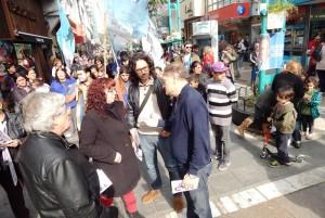 Con una caminata por el centro de la ciudad, Birri cerró su campaña
