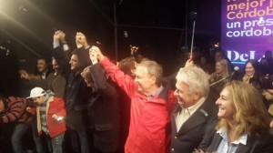 Schiaretti celebró el triunfo junto a De la Sota y Massa