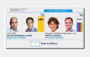 "Lousteau acusó al PRO de instar a porteños ""a votar en blanco"""