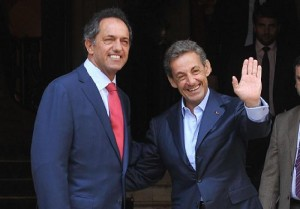 Scioli con Sarkozy, dialogaron sobre Malvinas