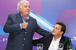 De los tres presidenciables que marchan en punta, De la Sota ratificó su apoyo a Massa