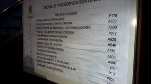 lista ubicación BUS junta electoral municipal