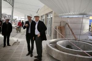 Macri recorrió las obras de la nueva terminal de combis de Puerto Madero