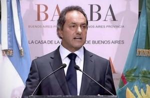 """Denuncia en PPT: En defensa de Aníbal, Scioli se refirió a """"una movida política"""""""
