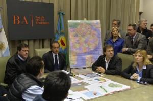 """Al rechazar las críticas opositoras, Scioli afirmó que su prioridad """"son los damnificados"""""""