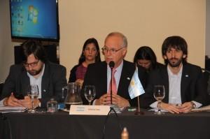 Representantes sanitarios de Unasur en la Argentina
