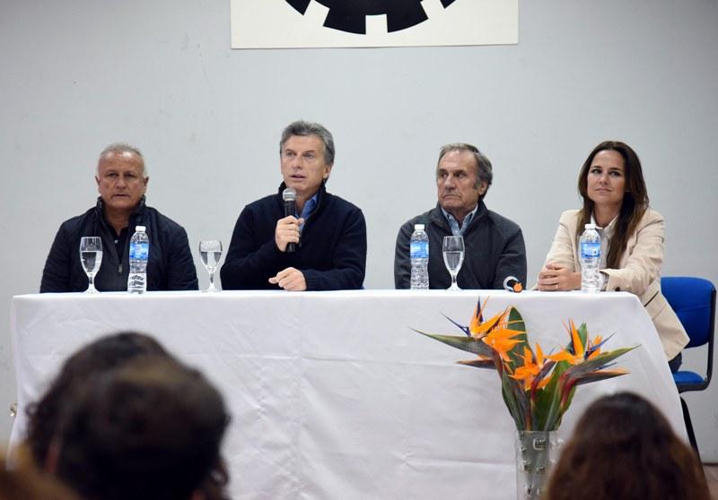 Macri, Del Sel, Reutemann y Martínez