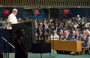 Papa Fco en la ONU PA. Gentileza United Nations Photo