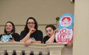 """Por unanimidad, la Legislatura aprobó la denominada """"Ley de Talles"""""""