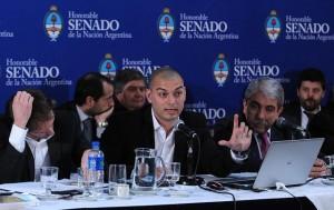 viceministro de Economía, Emmanuel Álvarez Agis en el senado Presupuesto 2015