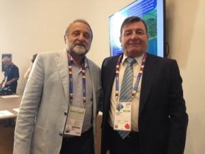 Giarcarlo Canzanelli (Presidente ILS LEDA) y Raúl Dentesano (ADEC)