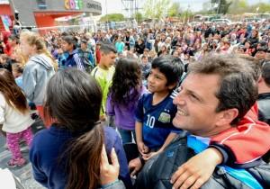 Massa en San Miguel. Inauguración del centro de desarrollo infantil