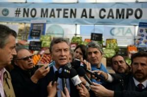 El Campo en el Obelisco: Macri prometió eliminar retenciones