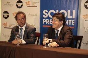 """Tras cuestionar a De la Sota, Scioli y Zannini insistieron en que habrá una """"muy buena relación"""" con Schiaretti"""