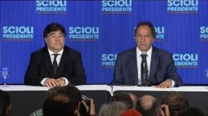 #Balotaje Tras asimilar el golpe, Scioli arremetió contra Macri