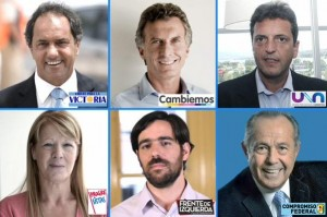 seis candidatos presidenciales