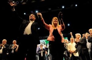 En el cierre de campaña, Stolbizer recordó a Alfonsín y crítico a la UCR