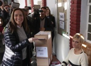 """En la """"madre de las batallas"""" de esta elección, votó Vidal y Fernández"""