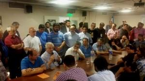 Fase operativa: Líderes sindicales de las dos CGT y otros núcleos gremiales dieron otra muestra de unidad en torno a Scioli