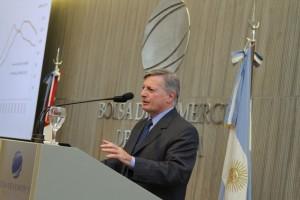Aranguren en el almuerzo de análisis de coyuntura de la Bolsa de Comercio de Córdoba, realizado recientemente.