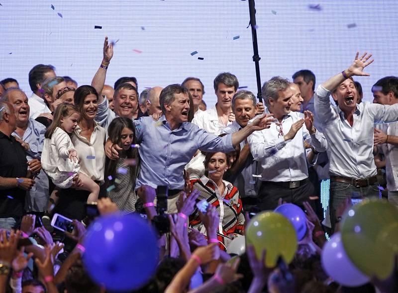 macri festejo presidente
