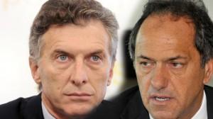 Scioli y Macri calientan las redes a horas de producirse el histórico debate