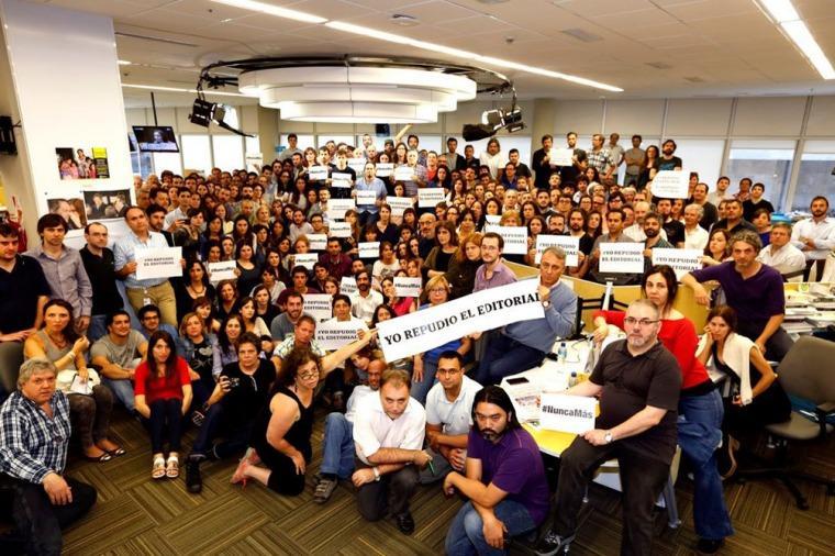 repudio periodistas La Nación editorial
