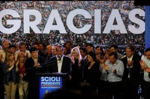 """Tras reconocer la derrota, Scioli afirmó que """"se optó por un cambio, Dios quiera que sea por un cambio superador"""""""