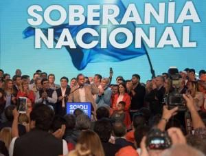 """Scioli insistió en que el domingo se elige entre  """"el Estado presente o el capitalismo salvaje"""""""