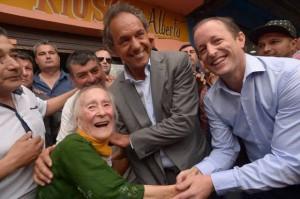 """Scioli  quiere """"orden"""" en las calles, """"no más cortes"""""""