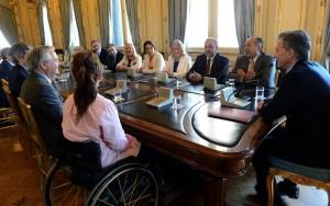 Macri se reunió con senadores del Interbloque Federal que comanda Rodríguez Saá