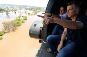 """Al cuestionar que se ha """"sanateado"""" con las obras estructurales, Macri prometió que en su gestión habrá fondos para """"soluciones definitivas"""""""