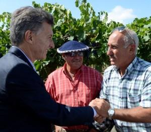 Desde Mendoza,  Macri anunció medidas de apoyo para los productores vitivinícolas