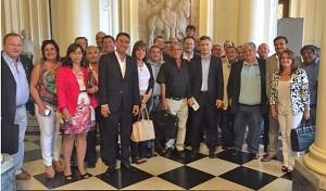 Intendentes radicales en la Rosada: Foto con Macri y promesas de fondos para obras  de infraestructura