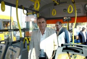 Transporte: Mestre aseguró que de las 300 unidades que se prometió en campaña, ya se sumaron 70 ómnibus 0 km