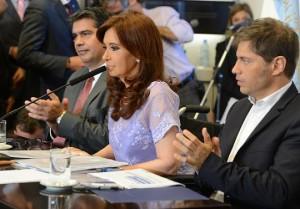 CFK con capitanich y kicillof 29 de enero