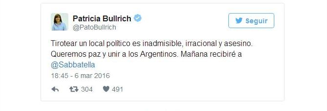 bullrich tuit