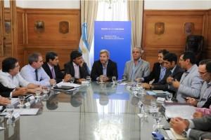 Ministros de Finanzas de provincias con Frigerio por nuevo acuerdo de coparticipación