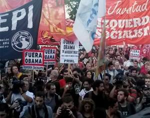 Agrupaciones de izquierda repudiaron la presencia de Obama en Argentina