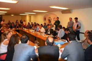 reunión conjunta de comisiones Gasoductos y nueva deuda