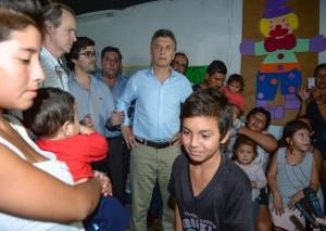 """Macri se comprometió a «resolver todos los problemas que ocasionó el temporal"""""""