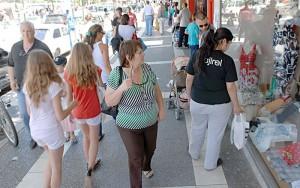 Ventas-minoristas peatones