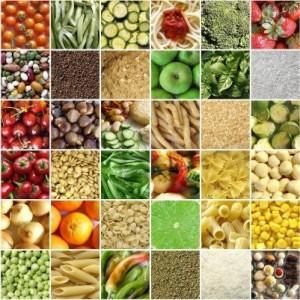 collage frutas y verduras