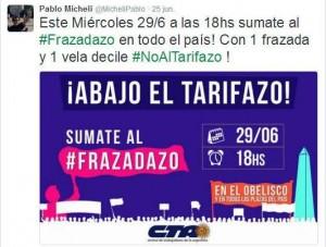 """#29Jun Con críticas al gobierno macrista, convocan a un """"frazadazo"""" de protesta contra el #Tarifazo"""